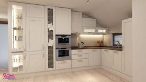 Пълна визуализация на кухня и дневна