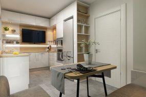 Дизайн маленькой кухни и столовой