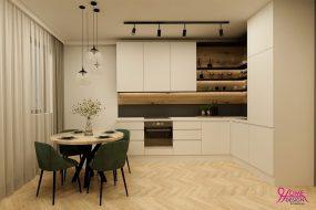 3Д Проект на дневна и кухня